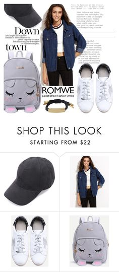 """Downtown"" by gina-m ❤ liked on Polyvore featuring contest, denim, romwe and fashionset"