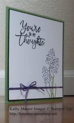 Sympathy Card made with Stampin' Up!'s Thoughtful Branches Stamp Set.  For details, go to my Monday, August 15, 2016, blog at http://www.stampinup.net/blog/2130686/entry/thoughful_branches_hyacinths