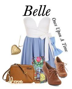 """Belle"" by belladels ❤ liked on Polyvore featuring Disney, GiGi New York, Sydney Evan, blueandwhite, onceuponatime, belle, BeautyandtheBeast and belladels"