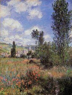 Lane in the Poppy Fields, Ile Saint-Martin - Claude Monet - The Athenaeum