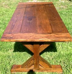 Trestle Leg Rustic Dining Table