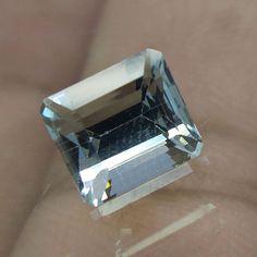 2.2 Cts 7.5x6.7x6 mm Emerald Cut VS Light Blue Aquamarine Natural Cut Stone #Unbranded