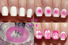 ErinZis Nails: Pink Floral Water Marble + Tutorial