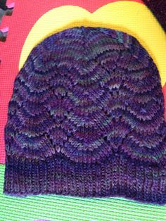 Boardwalk by Elizabeth Pedersen in Malabrigo rios Zazamora. Free pattern on Ravelry.