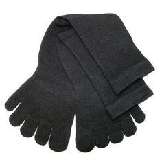 Cotton Socks Feelmax Toe Socks Solid Black Men's Shoe Size 10 - 14 Feelmax. $11.99