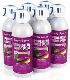 When I finally get around to finishing my craft room this is the route I will go with that big black office chair of mine (it is a comfy chair though) Simply Spray Upholstery Fabric Spray Paint 6 Pack Plum Purple and it comes in other colors. I hope it works.....