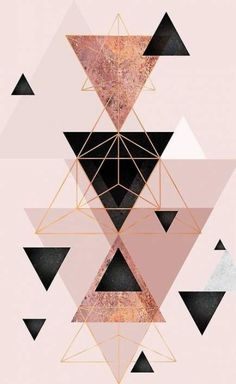 Geometric Triangles In Blush And Rose Gold Iphone Case By Urbanepiphany - Wallpaper Quotes Iphone Wallpaper Rose Gold, Wallpaper Iphone Liebe, Geometric Wallpaper Iphone, Rose Gold Iphone Case, Iphone Background Wallpaper, Pastel Wallpaper, Tumblr Wallpaper, Black Wallpaper, Screen Wallpaper