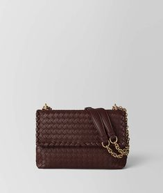 315864b2115 Bottega Veneta DARK BAROLO INTRECCIATO NAPPA SMALL OLIMPIA BAG Brown little  lady purse