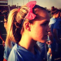 Pre wrap bow #socute #soccergirlswag ⚽