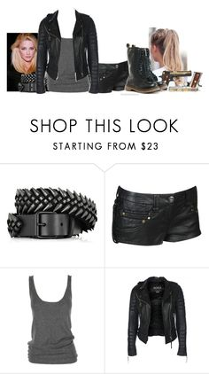 """""""Untitled #105"""" by angelicdemon479 ❤ liked on Polyvore featuring Balmain, Forever 21, Lutz Huelle and Dr. Martens"""