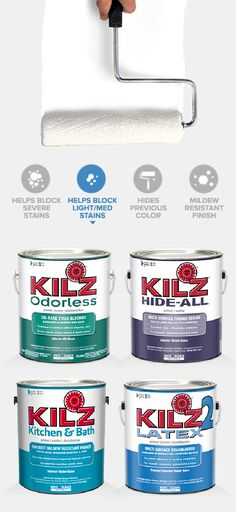 Primer Comparison Key with KILZ Primer | Prime and Paint Smart ...
