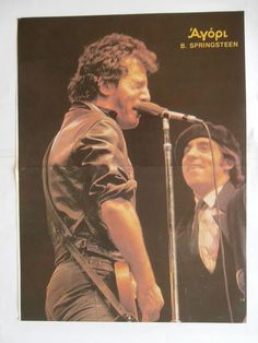 Bruce Springsteen Simon Lebon Poster from Greek Mags clippings 1970s 1990s | eBay