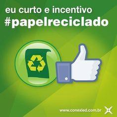 Os gastos com papel são um dos principais motivos de desmatamento no mundo e sua reciclagem é de extrema importância para o meio ambiente. #GrupoConex #Conex #Conexled #EuCurtoReciclar #EuCurtoMeioAmbiente #PorUmMundoMelhor #PorUmaVidaMelhor #Sustentabilidade #PapelReciclado #MundoMaisVerde #MundoMaisSustentavel #InstaCool #InstaSustentavel #VemFeriado by conexledoficial http://ift.tt/27SYR00