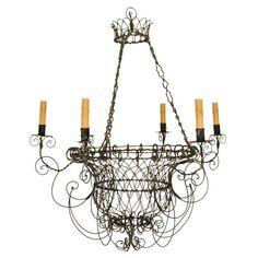 Wire Work Chandelier