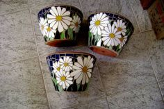 vasos de mosaico para parede R$ 67,00