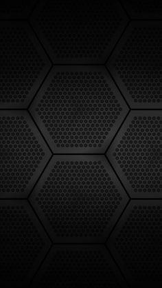 Black Hexagons iPhone5 Wallpaper (640x1136)