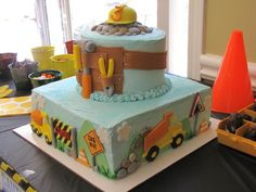 Cake at a Construction Party #construction #partycake