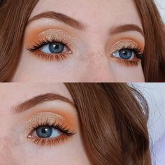 "114 gilla-markeringar, 9 kommentarer - Lucy (@lucy_anna) på Instagram: ""Sometimes simple is best 🌺⭐ . . . . #gold #orange #eotd #makeup #eyeshadow #simple…"""