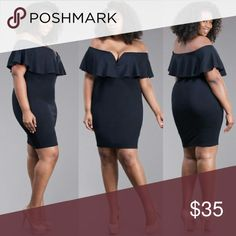 Plus size off Shoulder black dress 1x 2x 3x 1x 2x 3x plus size off Shoulder black dress Dresses