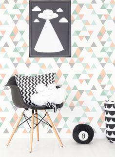 IY058 TRIANGLE geometric wallpaper Non-Woven WALLPAPER durable luxury mint scandinavian IMIELSKY original design custom made