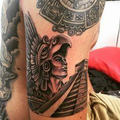 Trendy Aztec Tattoo Designs for Girls