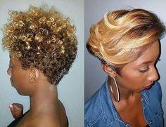 Image result for short blonde natural pixie on black women