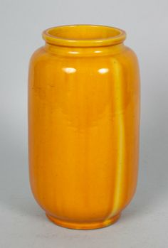 Chinese Imperial Yellow porcelain vase late 19th century; 7 in. H.