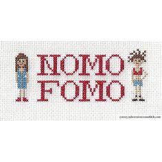 NOMO FOMO Broad City Cross-Stitch Sampler