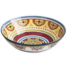 This hand-painted ironstone bowl can spice things up even before you put the food on the table. Perfect for wild crazy fun parties or patio happy hours, it also makes your everyday dinners anything but a siesta.