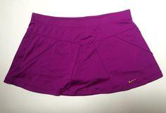 Nike Dri-Fit Women's Tennis Running SKORT Skirt Purple Size Medium #Nike #SkirtsSkortsDresses