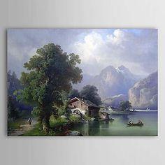 Hand Painted Oil Painting Landscape 1303-LS232 - USD $ 119.99