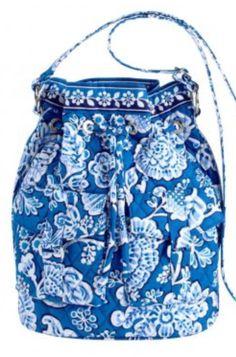 *Rare* Vera Bradley Blue Lagoon Quick Draw Shoulder Purse Hobo Backpack EUC  | eBay
