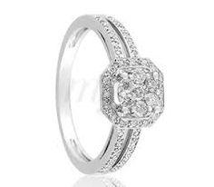 18k Brilliant Or Blanc Décontracté Mode Bague Diamant Carat / 0.12 W / Boîte Lovely Luster Élégant