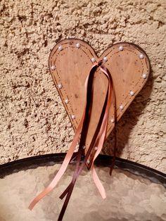 Srdce na dvere vypalované