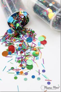 Confetti Party Popper - a super easy & super fun DIY! | @mamamissblog