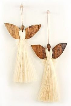 15 Unique Angel Ornaments For Kids That You Ll Love To Take A Look At Amazing Sisal Angel Christmas Tree Ornament Angel Crafts, Christmas Projects, Holiday Crafts, Home Crafts, Diy Crafts, Diy Christmas, Homemade Christmas, Rustic Christmas, Simple Christmas