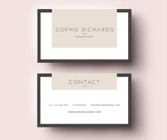 3 page CV template + Business card by Emily's ART Boutique on Creative Market