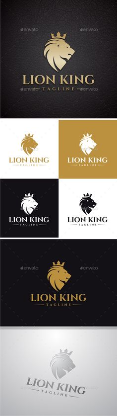Lion King Logo by yopie Logo Template : 100 Vector 100 Customizable High Quality Editable Text Font Name and Link for download are provided in Readme fi