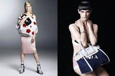 Prada ss13 campaign featuring Kirsten Owen