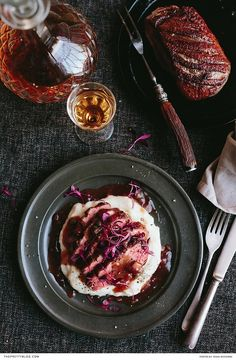 Easy Pan-Fried Duck Breast  with a Cranberry Sauce | Photography & styling: Tasha Seccombe | Photography Recipe development, text & food preparation, food styling: The Food Fox / Die Kos Vos |