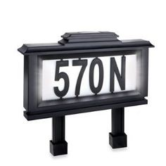 Solar House Number Lights | solarhousenumbers.org