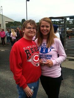 Me and Nastasia Stickler at the Conner pink out game