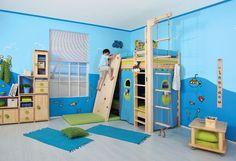 Hodně modré - málo zelené INSPIRACE dětský pokojíček Baby Boy Rooms, Scenery, Loft, Kids Rugs, Header, Turquoise, Furniture, Green, Kitchen