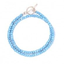 Turquoise & Gold Pyrite Bracelet www.jewelya.com