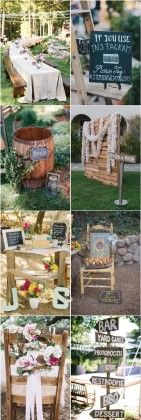 rustic country backyard wedding decor ideas