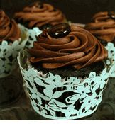 """Laser Cut Cupcake Wrappers """"Magnolia Mint""""   12 for $11.99"""