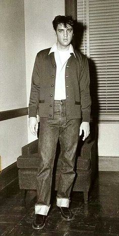 "this is the wardrobe test for ""King Creole"", 1958."