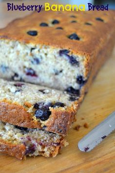Your favorite banana bread filled with fresh blueberries! An easy and delicious quick bread.