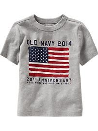 Flag Tees for Baby
