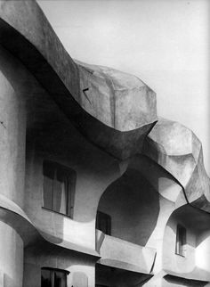 Detail of Haus Duldeck, designed by Rudolf Steiner 1915-1916 (photographed in the 1970s). Photographer unknown.